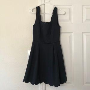 Dresses & Skirts - Navy scalloped dress
